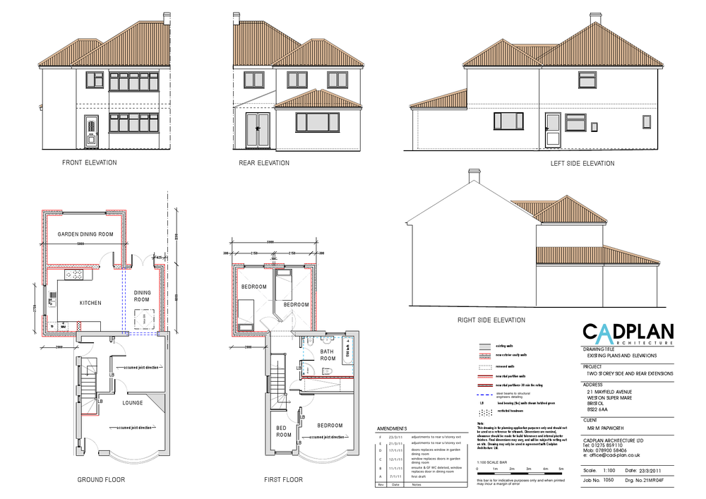 Single Storey And 2 Extensions To Rear