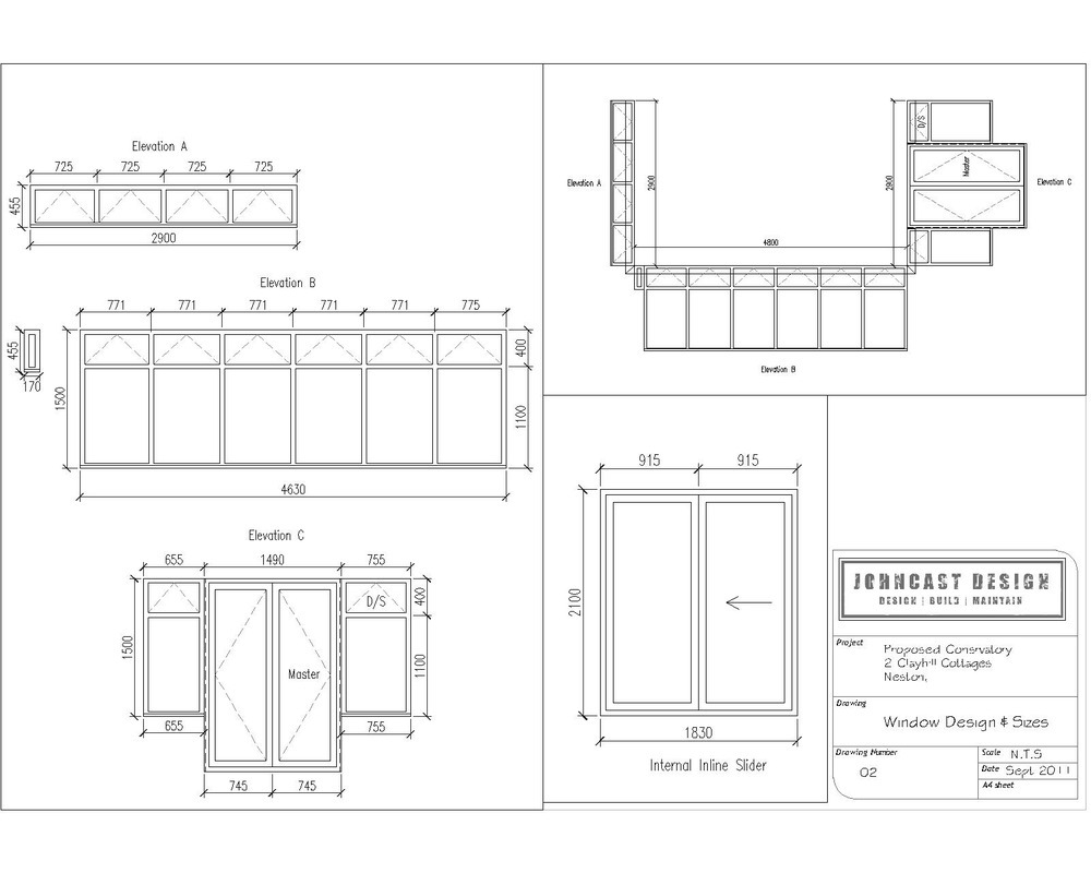Johncast design limited 100 feedback architectural for Window design sketch