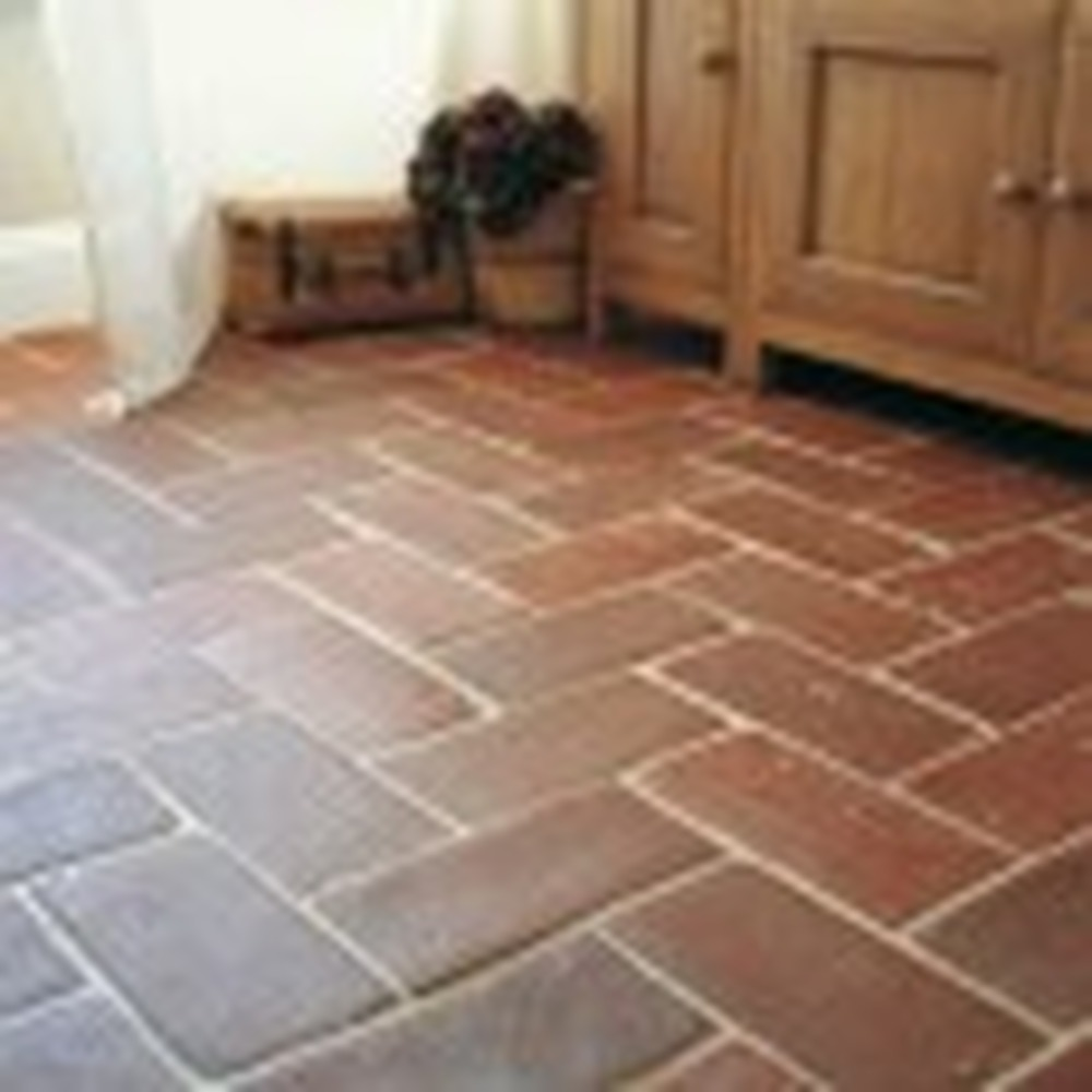 Tile kitchen floor with natural terracotta tiles tiling Fired tiles