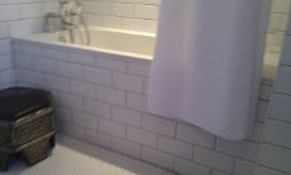 tiled bath panel brick effect