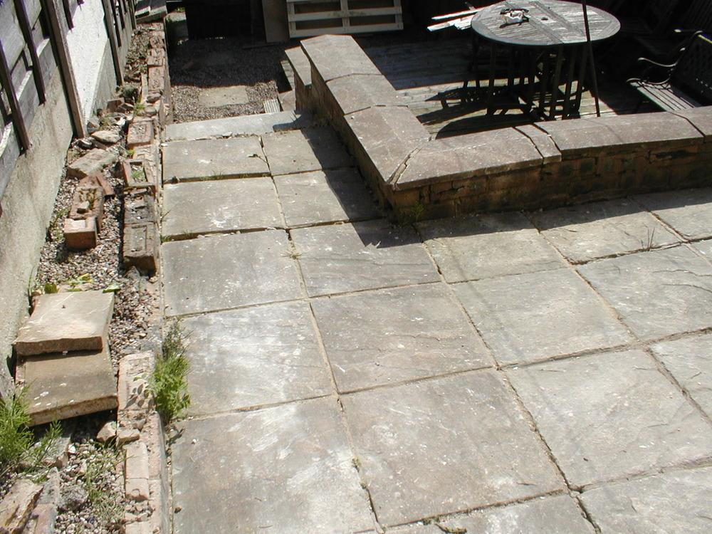 Patio Walls Around Patio Slab : New patio brick wall repairs garden gate landscape