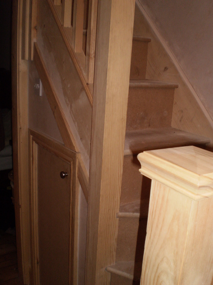 Paint Landing And Ceiling Gloss New Small Staircase
