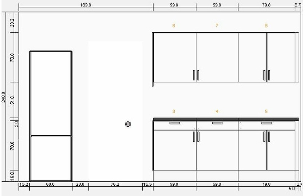 Fit ikea kitchen 8 units in small terrace house for Fitting kitchen units to wall