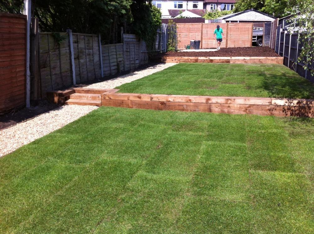 Dreaming green ltd 100 feedback landscape gardener in for Split level garden designs