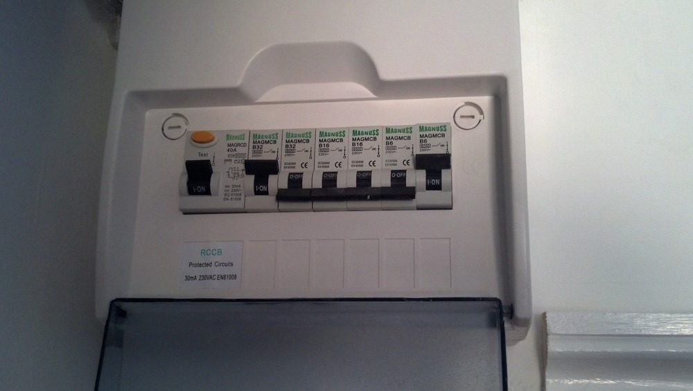2nd fix shower isolator switch replace consumer unit. Black Bedroom Furniture Sets. Home Design Ideas