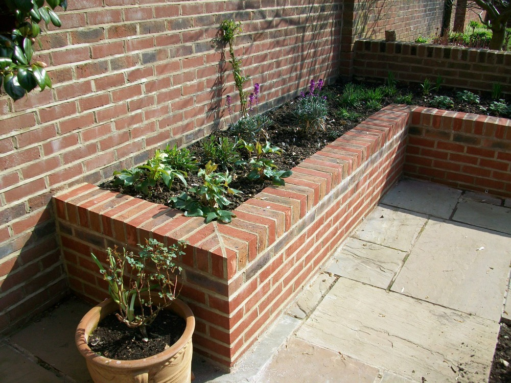 Brick Raised Garden Beds