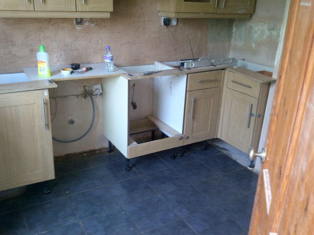 Refit kitchen carcasses and supply fit budge worktop for Kitchen carcasses only