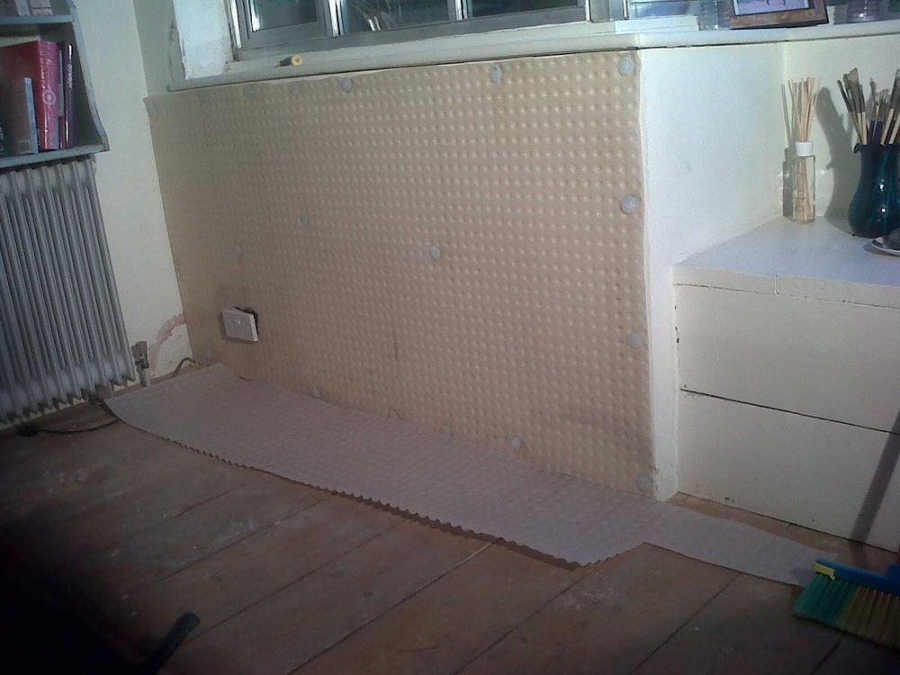 tanking basement wall inprogress 39 london