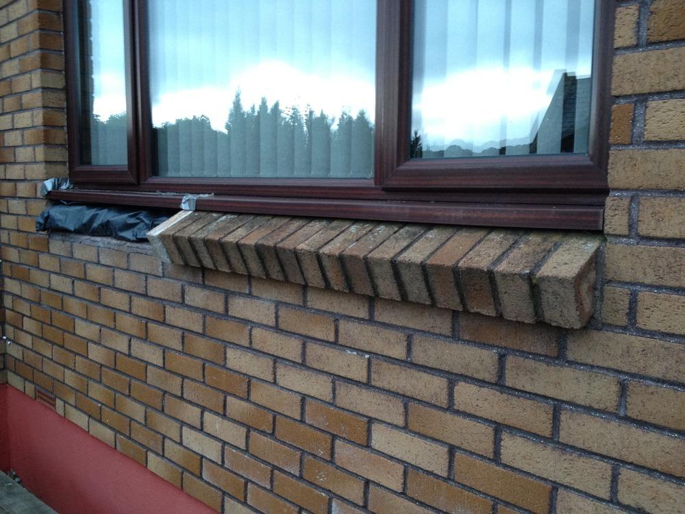 Brick Window Sill Repair Bricklaying Job In Bodmin