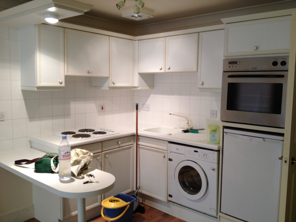 Small Kitchen Incl Elec Hob Sink Washing Machine Re Do