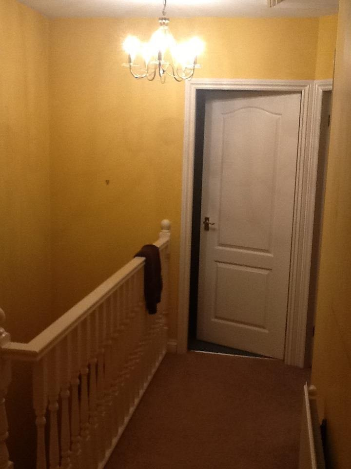 Hall Stairs And Landing Painted Walls Doors Ceiling