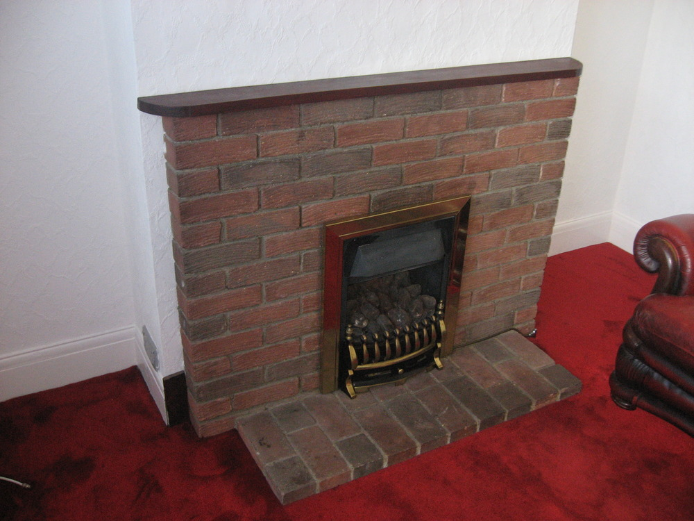 remove brick fireplace demolition clearing in