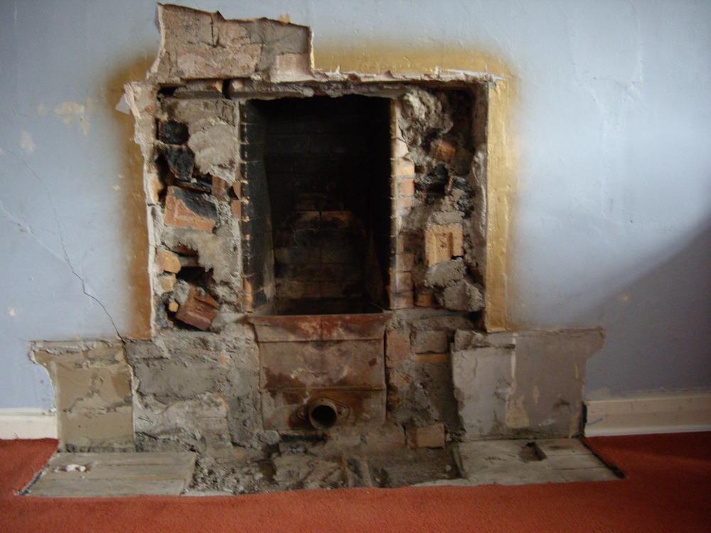 Rebuild Fireplace In Existing Opening Inc Fit Lintel Chimneys Fireplaces Job In Glasgow