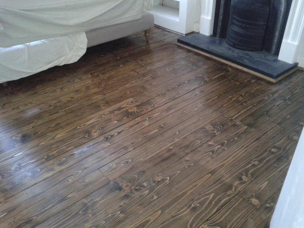 The gallery for minwax english chestnut on pine for North wood flooring