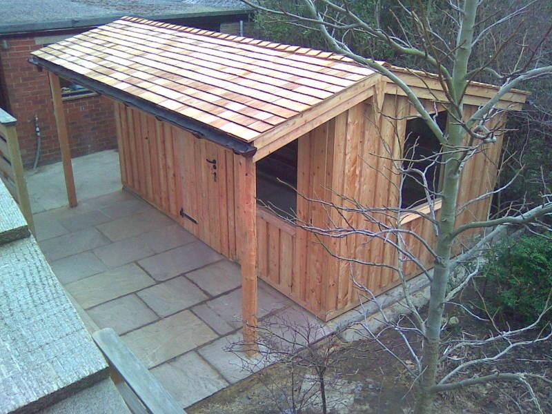 Jack sutcliffe 100 feedback carpenter joiner in sheffield for Cedar shingle shed