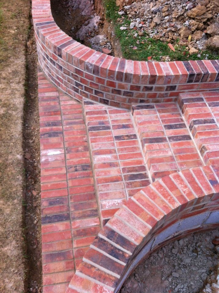 Gallery For Curved Brick Garden Walls
