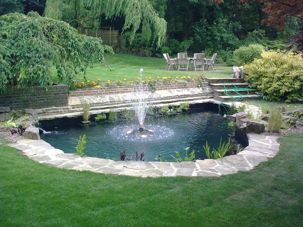 Ponds by design 91 feedback landscape gardener in for Garden pool surrounds