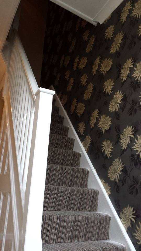 A m b painting decorating 100 feedback painter - How to wallpaper stairs and landing ...
