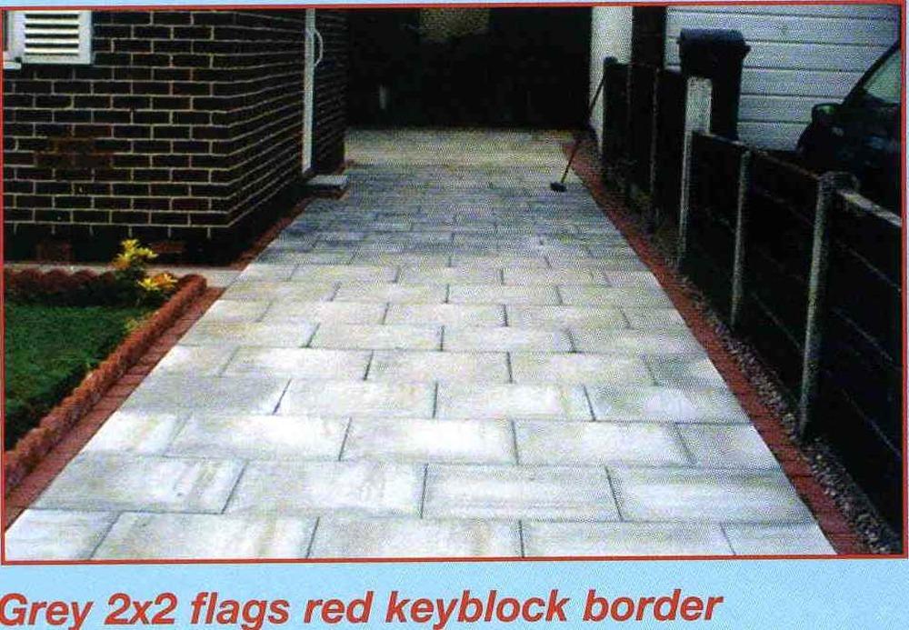 Driveway Flagged Amp Brick Border 68sq Mt S Driveways Job