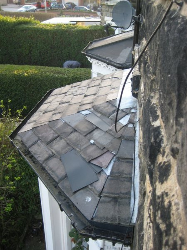 Roof Guttering And Bay Window Roof Replacement Roofing
