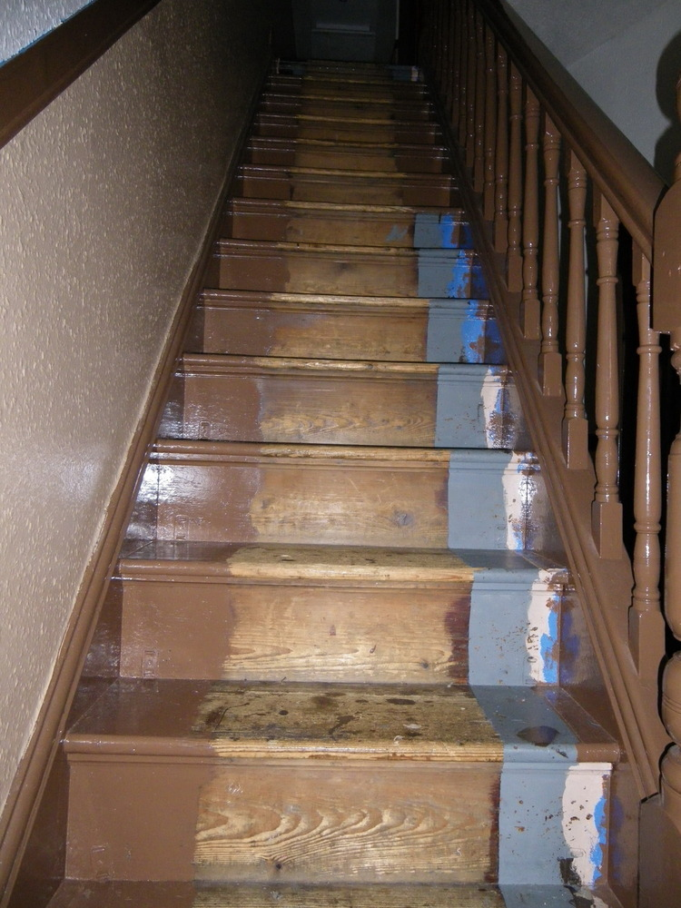 Lighting Basement Washroom Stairs: CUT & FIT FELT BACKED CARPET TO STAIRS, HALL & LANDING