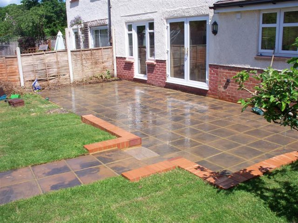 Teambuilder and Garden Designs: 100% Feedback, Bricklayer ... on Paving Ideas For Back Gardens id=69219