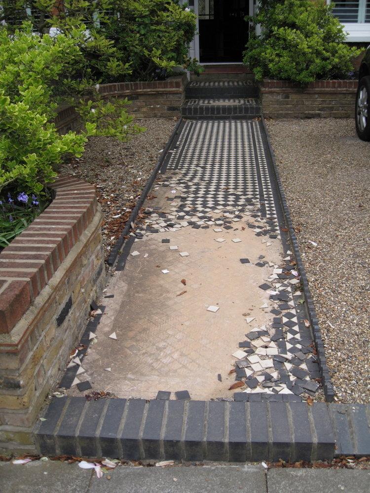 Repair Renew Front Garden Path Tiling Job In Middle Park