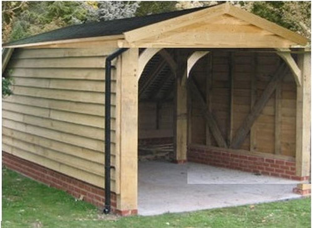 Beautiful Build Wooden Garage Car Port Garages Sheds Job In · Garage Building Kits