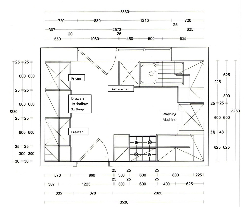 Kitchen Layout Dimensions With Island: Supply And Fit A New Kitchen